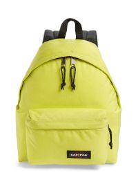 Eastpak - Yellow Padded Pak'r Nylon Backpack - Lyst