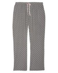 Pj Salvage - Gray Polka Dot Pajama Pants - Lyst