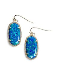 Kendra Scott | Blue Dani Stone Drop Earrings | Lyst