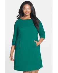 Eliza J | Green Pocket Detail Shift Dress | Lyst