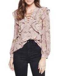 Bardot - Pink Frill Top - Lyst
