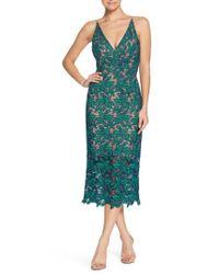 Dress the Population - Green Aurora Lace Sheath Dress - Lyst