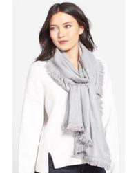 La Fiorentina - Gray Wool & Cashmere Scarf - Lyst