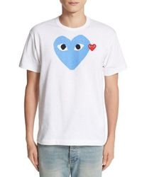 Comme des Garçons | White Play Heart Print T-shirt for Men | Lyst