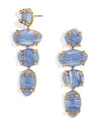 BaubleBar | Blue Devina Drop Earrings | Lyst
