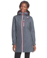 Helly Hansen   Gray 'belfast' Long Waterproof Winter Rain Jacket   Lyst