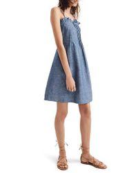 Madewell - Blue Pintuck Denim Camisole Dress - Lyst