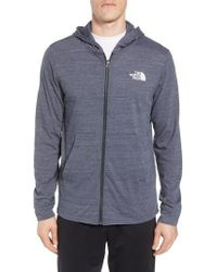 The North Face - Blue Americana Zip Hoodie for Men - Lyst