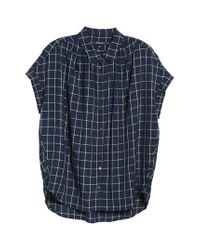 Madewell | Blue Central Windowpane Check Shirt | Lyst