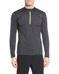 Sodo   Gray 'elevate' Moisture Wicking Stretch Quarter Zip Pullover for Men   Lyst