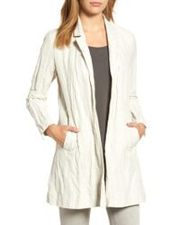 Eileen Fisher | Multicolor Notch Collar Long Jacket | Lyst