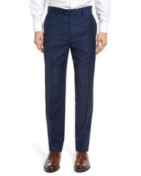 Bensol | Blue Gab Trim Fit Flat Front Pants for Men | Lyst