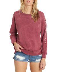 Billabong | Pink Off Chance Pullover | Lyst