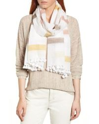 Eileen Fisher - Natural Organic Cotton Scarf - Lyst