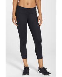 Nike | Black 'epic Run' Dri-fit Crop Tights | Lyst