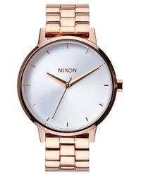 Nixon | Pink 'the Kensington' Bracelet Watch | Lyst