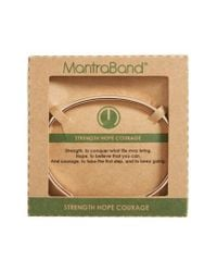 Mantraband | Metallic Strength Hope Courage Engraved Cuff | Lyst