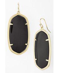 Kendra Scott - Black 'danielle - Large' Oval Statement Earrings - Lyst