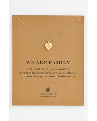 Dogeared | Brown 'we Are Family' Boxed Pendant Necklace | Lyst