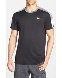 Nike | Black 'team Court' Dri-fit T-shirt for Men | Lyst