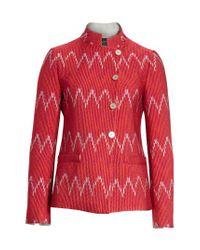 Emporio Armani - Red Fashion Jacket - Lyst