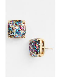 kate spade new york | Blue Glitter Stud Earrings | Lyst