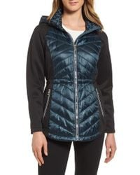 Guess - Blue Insulated Anorak Jacket - Lyst