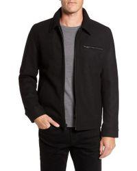 Vince Camuto - Black Wool Blend Shirt Jacket for Men - Lyst