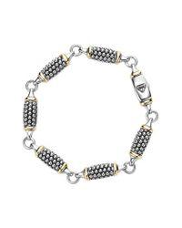 Lagos | Metallic 'caviar Forever' Link Bracelet | Lyst