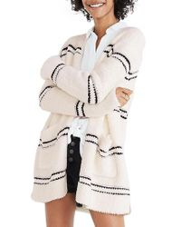 Madewell - Natural Stripe Boucle Cardigan Sweater - Lyst
