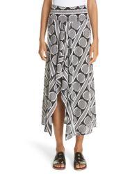 Zero + Maria Cornejo - Black Circle Fil Coupe Drape Skirt - Lyst