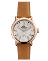 Shinola - Multicolor The Runwell Leather Strap Watch - Lyst