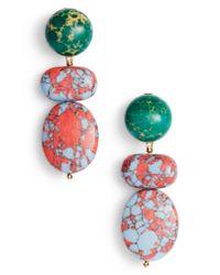 Lele Sadoughi - Blue Boulder Drop Earrings - Lyst