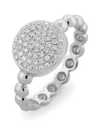 Bony Levy - White Aurora Diamond Pave Circle Ring (nordstrom Exclusive) - Lyst
