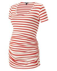 Isabella Oliver | Red Nia Ruched Maternity Top | Lyst