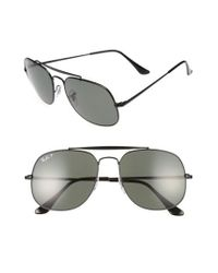 Ray-Ban - Multicolor 57mm Polarized Aviator Sunglasses - Lyst