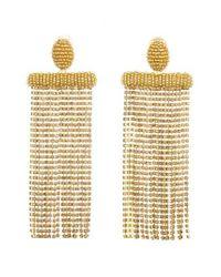 Oscar de la Renta - Metallic Waterfall Drop Earrings - Lyst