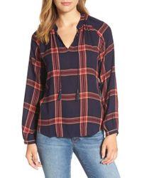 Lucky Brand - Blue Plaid Shirt - Lyst