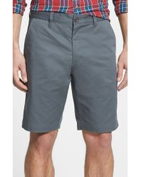 RVCA - Gray Flat Front Twill Shorts for Men - Lyst