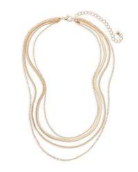 BP. - Metallic Layered Chain Necklace - Lyst