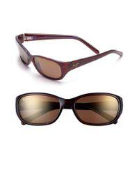 Maui Jim - Brown Kuiaha Bay 55mm Polarizedplus Sport Sunglasses - Rootbeer Blue - Lyst