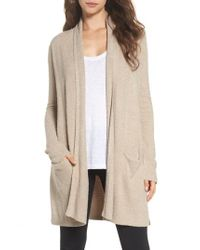 Barefoot Dreams | Natural Barefoot Dreams Essential Cardigan | Lyst