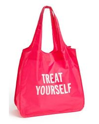 Kate Spade | Pink 'treat Yourself' Reusable Shopping Tote | Lyst