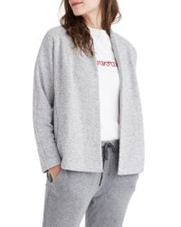 Madewell | Gray Terry Swing Jacket | Lyst