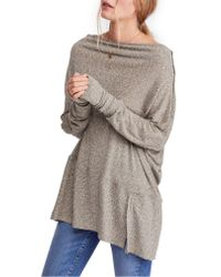 Free People - Gray Londontown Thermal Top - Lyst