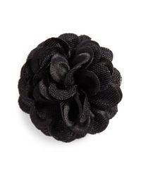 Hook + Albert - Black Lapel Flower - Lyst