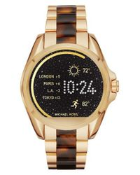 Michael Kors   Metallic Michael Michael Kors Bradshaw Access Bracelet Smart Watch   Lyst
