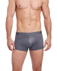 2xist Gray Military No-show Trunks for men