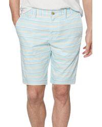 Original Penguin - Blue Dobby Stripe Shorts for Men - Lyst