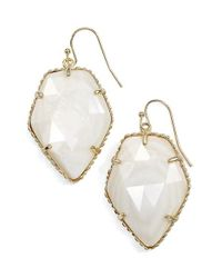 Kendra Scott | Metallic 'corley' Faceted Stone Drop Earrings | Lyst